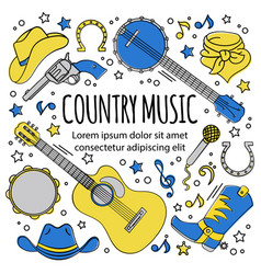 Country music festival western holiday illu vector