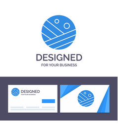 Creative business card and logo template vector