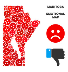 Crisis manitoba province map composition of vector