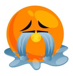 Crying hard emoji on white background vector
