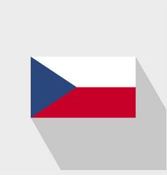 Czech republic flag long shadow design vector