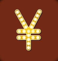 Diamond glittering Yen sign of sparkling vector