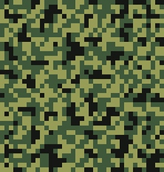 Digital pixel camouflage seamless pattern vector image
