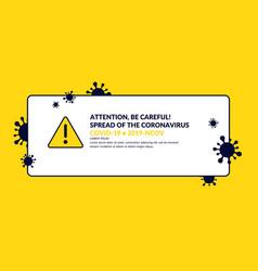 Epidemic coronavirus covind-19 2019-ncov vector