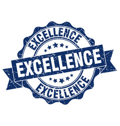excellence stamp sign seal vector image