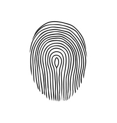 Fingerprint or dactylogram the evidence in the vector