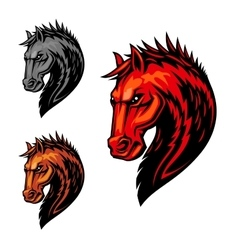 Fire flaming horse symbol for equestrian sport vector image vector image