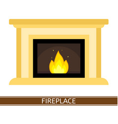 Fireplace icon isolated vector