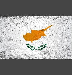 Flag of cyprus grunge vector