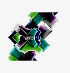 geometric shapes abstract background vector image
