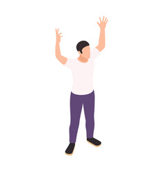 gesturing man icon vector image