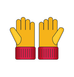 gloves flat vector image