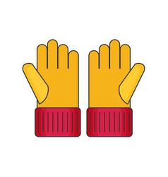 Gloves flat vector