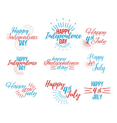 Happy 4 th july and independence day vector