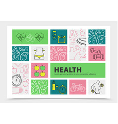 Healthy lifestyle infographic concept vector