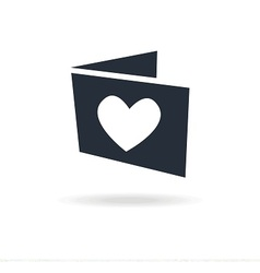 icon gift card with heart vector image