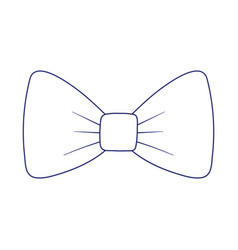 Isolated male bowtie design vector