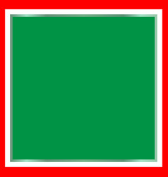 italian flag frame with green background vector image