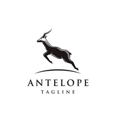 jumping antelope logo icon template vector image