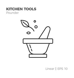 linear kitchenware icon vector image