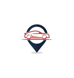 Locate automotive logo icon design vector