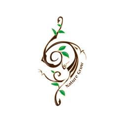 Logo symbol nature grow vector