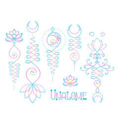 Lotus and sacred geometry unamole hindu symbol of vector