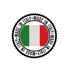 made in italy round rubber stamp for products vector image