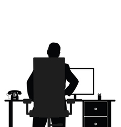 Man with computer vector