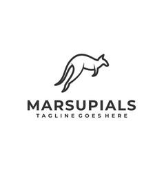 Marsupial design concept template vector