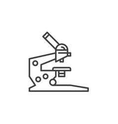 microscope concept icon in thin line style vector image