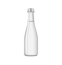Mineral still or sparkling water bottle mock up vector