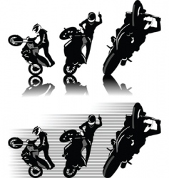 Motorbike freestyle vector