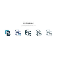 Multiple file icon in different style two vector