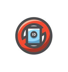 no id sign icon cartoon vector image
