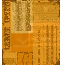 Old newspaper texture vector