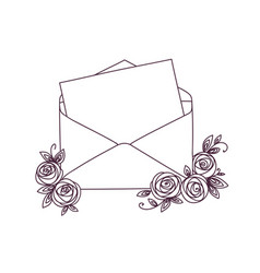 open letter with roses vector image