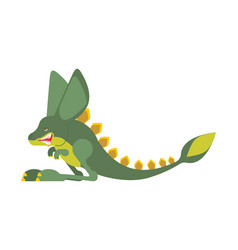 prehistoric jerboa dinosaur dino is jumping vector image