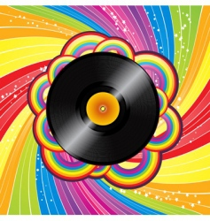 rainbow vinyl vector image