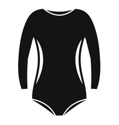 Rhythmic gymnastics clothes icon simple style vector