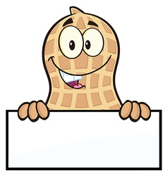 Royalty Free RF Clipart Peanut Cartoon Character vector