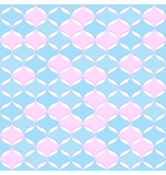 Seamless abstract geometric pattern cold colors vector image