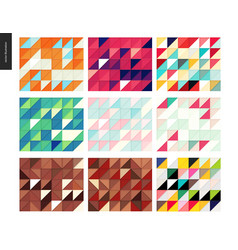 Seamless geometric papercut pattern vector