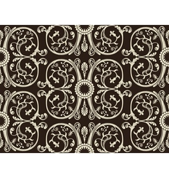 seamless vintage heraldic wallpaper black backgrou vector image