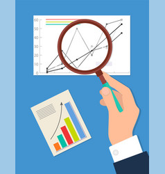 searching process analytics vector image