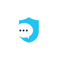 secure message chat bubble logo icon element vector image
