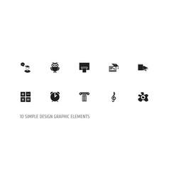 Set of 10 editable teach icons includes symbols vector