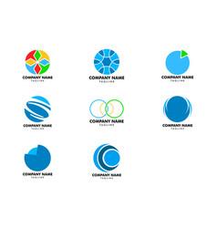 set of abstract circle logo vector image