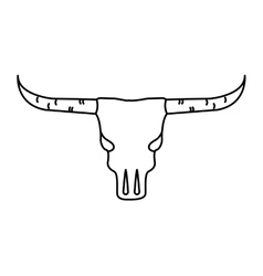 Skull cow wild west icon vector