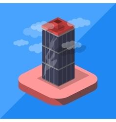 skyscraper isometric vector image